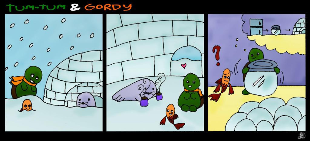 Tum-Tum and Gordy - Indoor Igloo by DarkIcePrincess