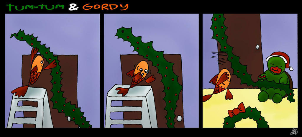 Tum-Tum and Gordy - Christmas Decorations by DarkIcePrincess