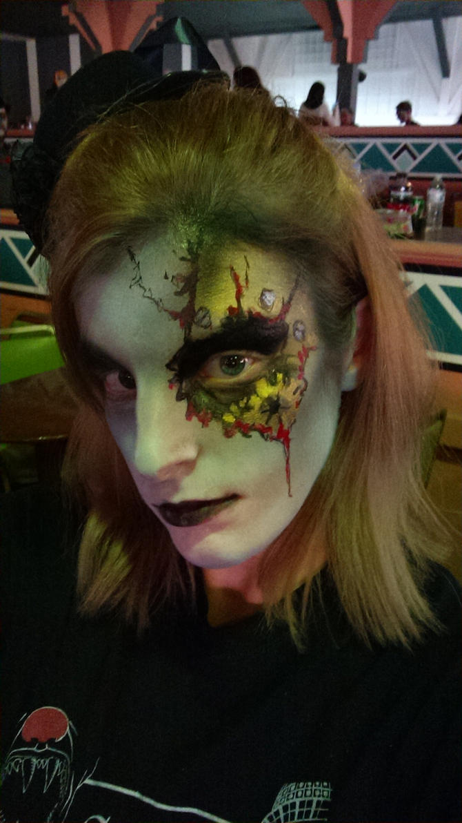 Cedar Point Screamster make up night 2 by lordofflowers