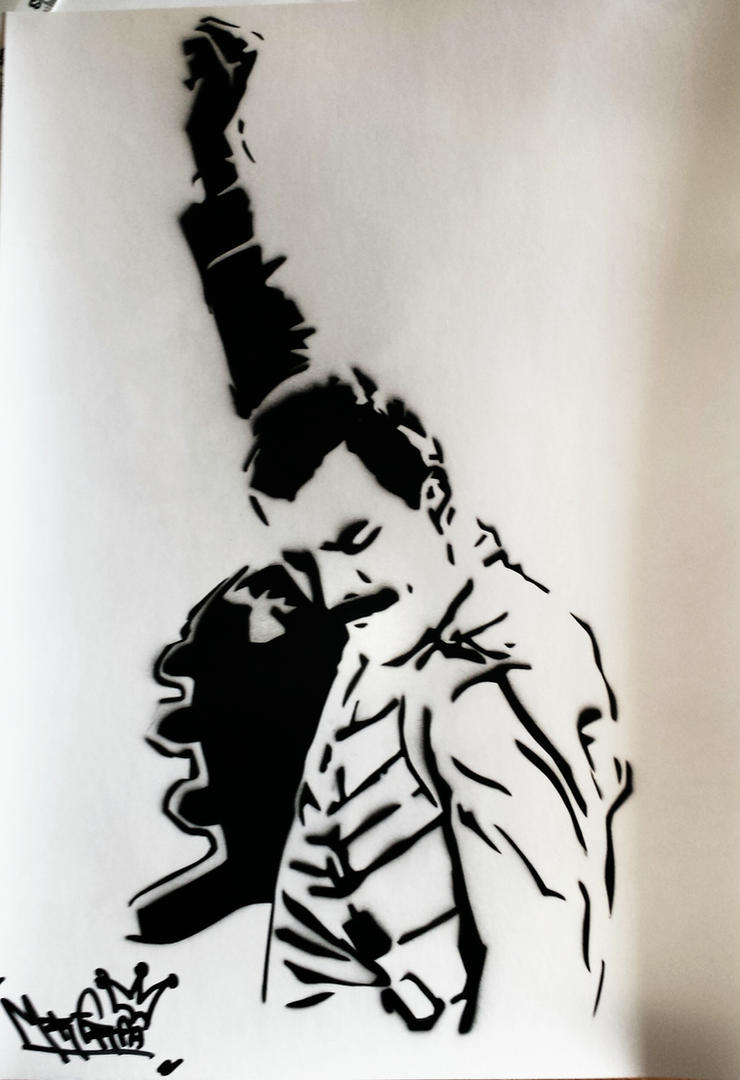 freddie mercury stencil airbrush by mrfreedeviant on face painting clip art for black kids face painting clip art for kids