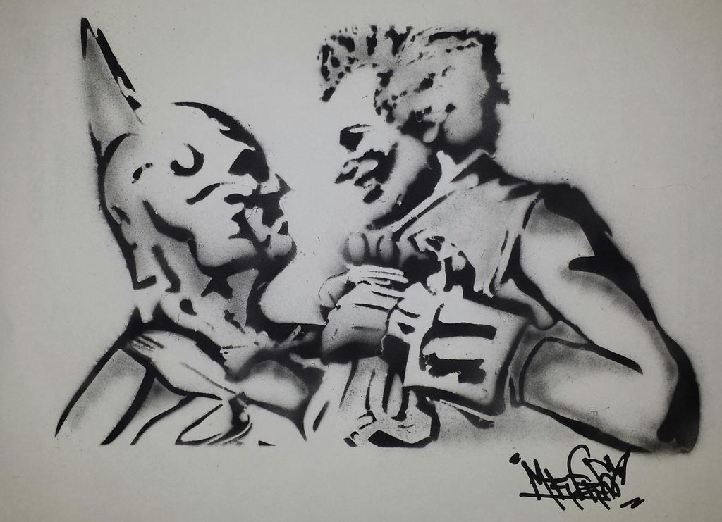 Batman VS Joker - Stencil airbrush by MrFreeDeviant on ...