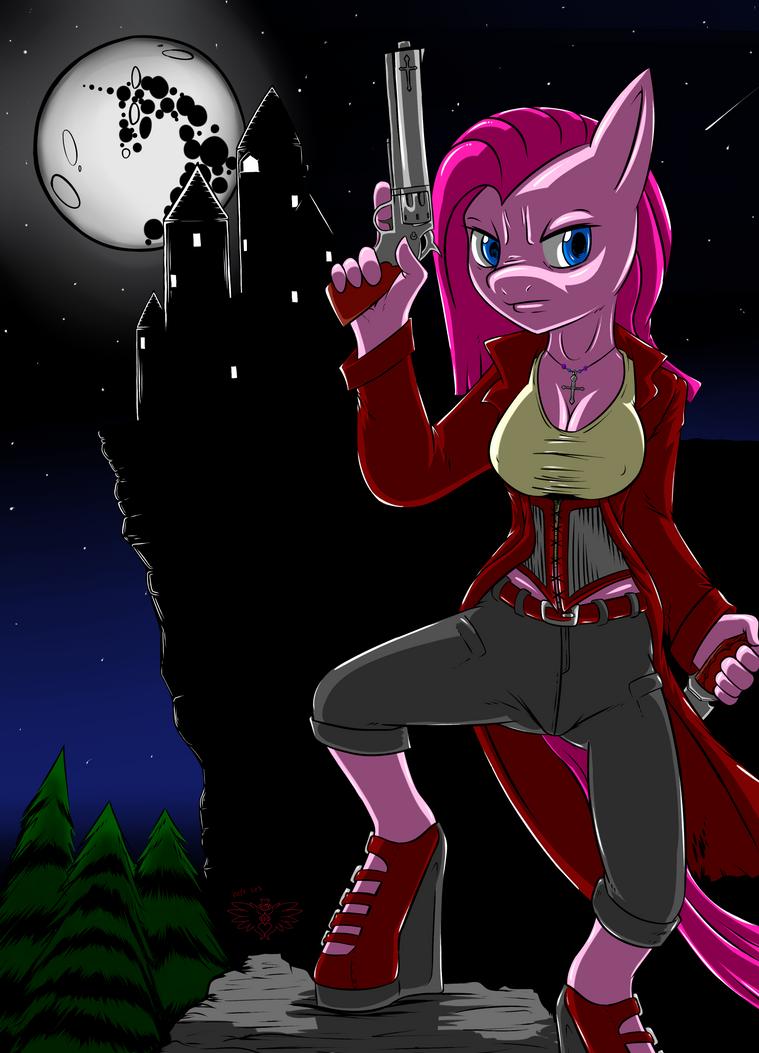 Pinkamena Van Helsing by AceofDiamonds23