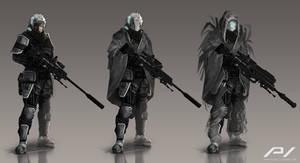 Sniper Character Concept by JoanPiqueLlorens