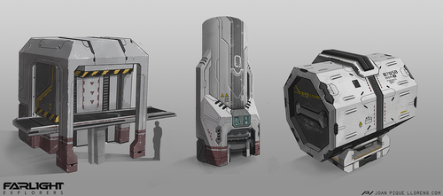 Farlight Explorers - Various prop designs by JoanPiqueLlorens