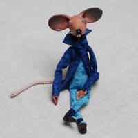 Rat Leo - art doll ooak - animal