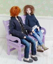 Dolls Samorukova wooden bench for dolls