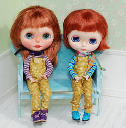 Blythe wooden bench for dolls