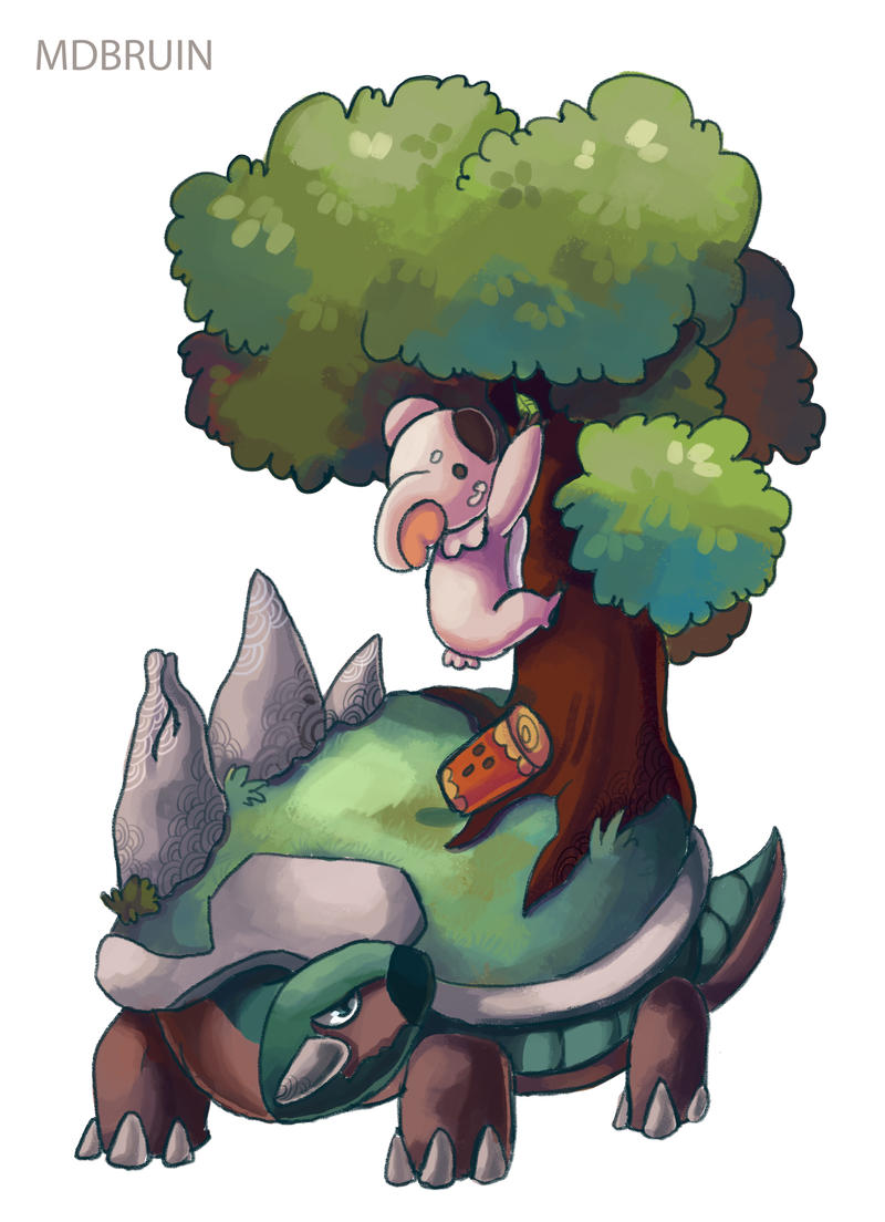 Don 39 t eat my leaves by mdbruin deviantart pokemon - Evolution tortipouss ...