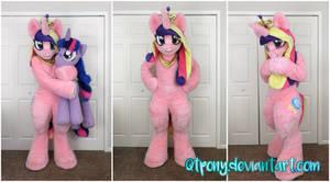 MLP Princess Cadance fursuit by qtpony