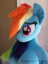 Anthro Rainbow Dash preview by qtpony