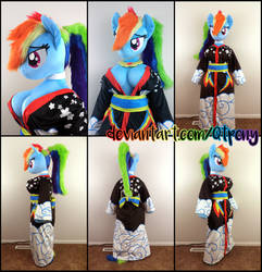 Anthro Rainbow Dash Kimono by qtpony