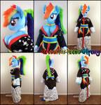 Anthro Rainbow Dash Kimono