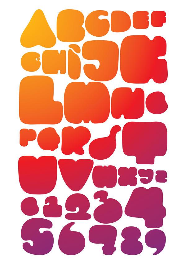 Alphabet Typo Poster by mettaKarania