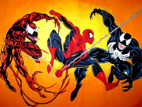 Spiderman, Venom, Carnage by SuperIrene on DeviantArt
