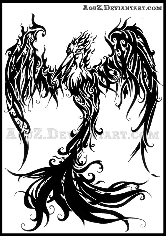 rising phoenix tattoo by aguz on deviantart. Black Bedroom Furniture Sets. Home Design Ideas