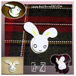 :handmade:Bunny button pin
