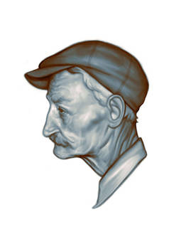 Old man with cap