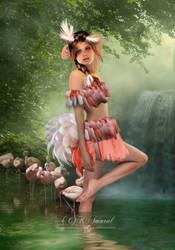 Flamingo by DesignbyKatt