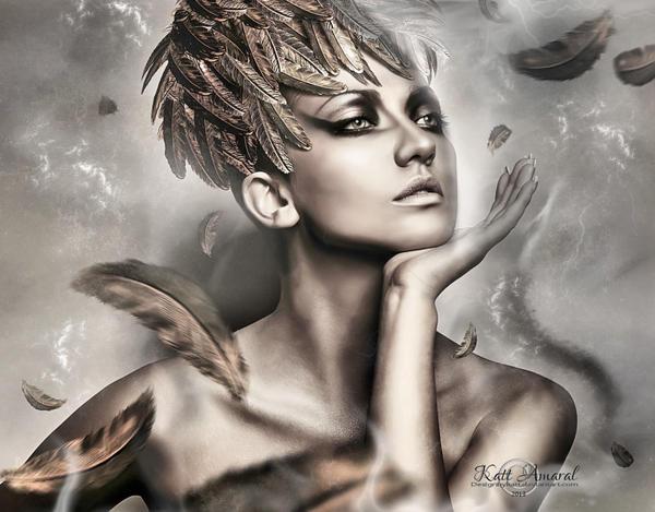 Feathers to Wind by DesignbyKatt