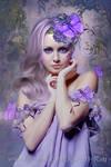 Lavender Butterfly by DesignbyKatt