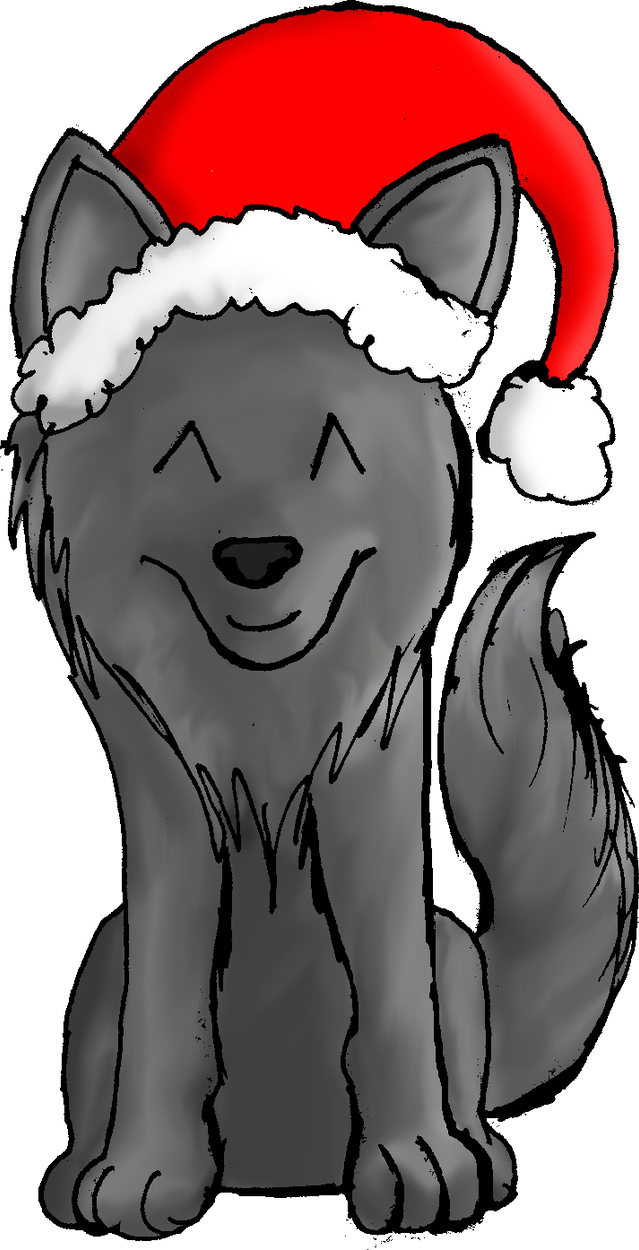 Christmas Wolf No. 2 by Groundshock on DeviantArt