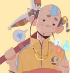 Inktober52: Yellow - Avatar Swag by iamcharlesjw