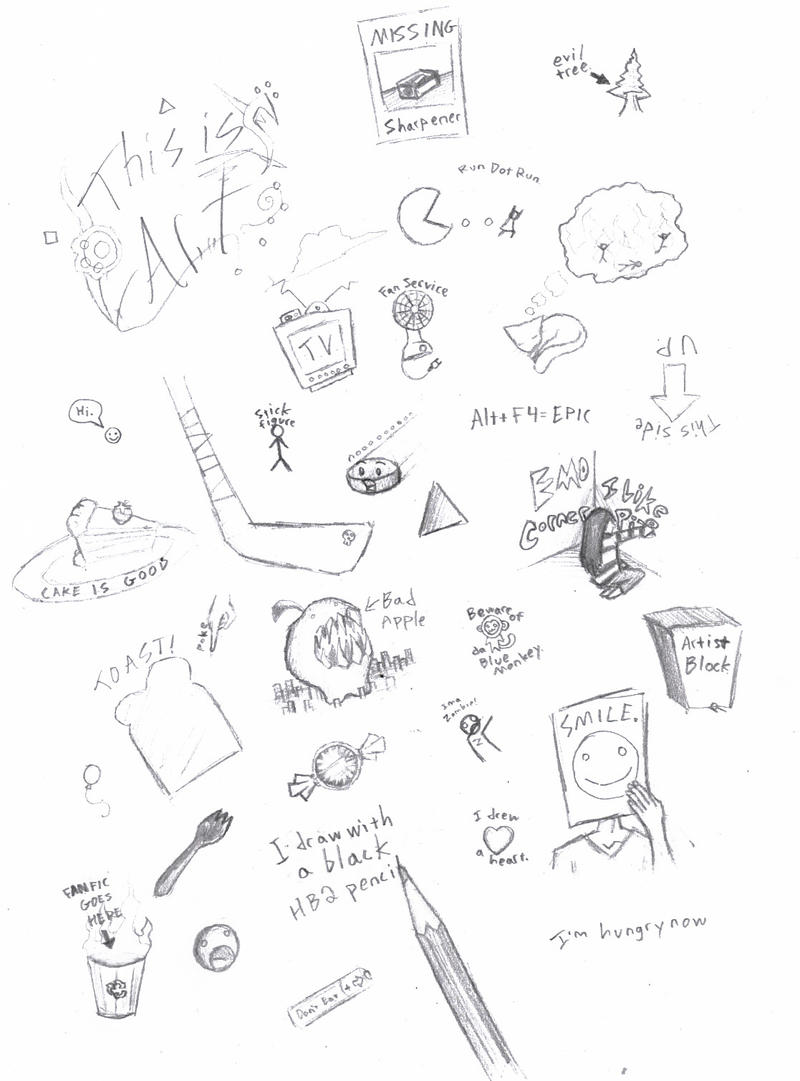 Simple Doodles By Da Blue Monkey
