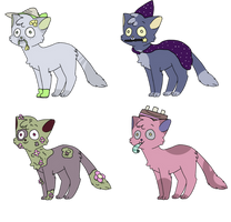 Adoptables! ONE LEFT! by abiege