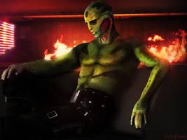Figured, you would enjoy some company, Shepard by Leo-Fina