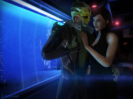Be alive with me tonight (Thane and Caledra) by Leo-Fina