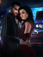 Shepard x Miranda by Leo-Fina