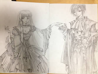 C.C. and Lelouch~