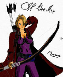 Akane with bow and arrows by Mroowa