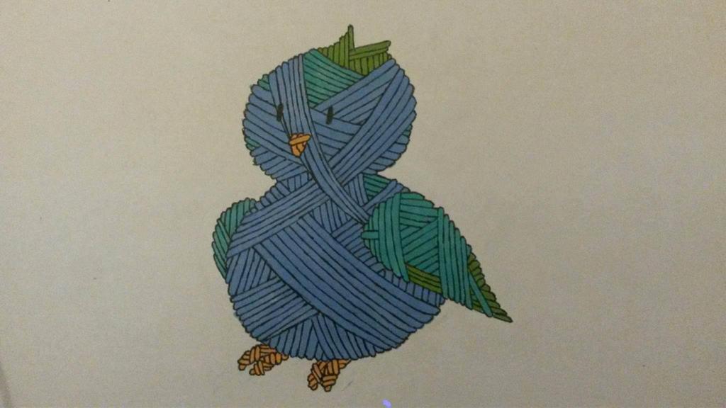 Yarn Birb by MosquitoDrawsNStuff
