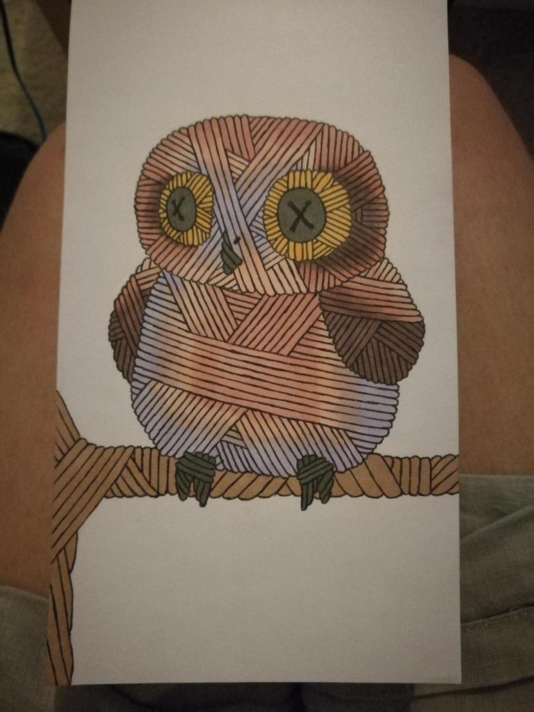 Owl yarnimal by MosquitoDrawsNStuff