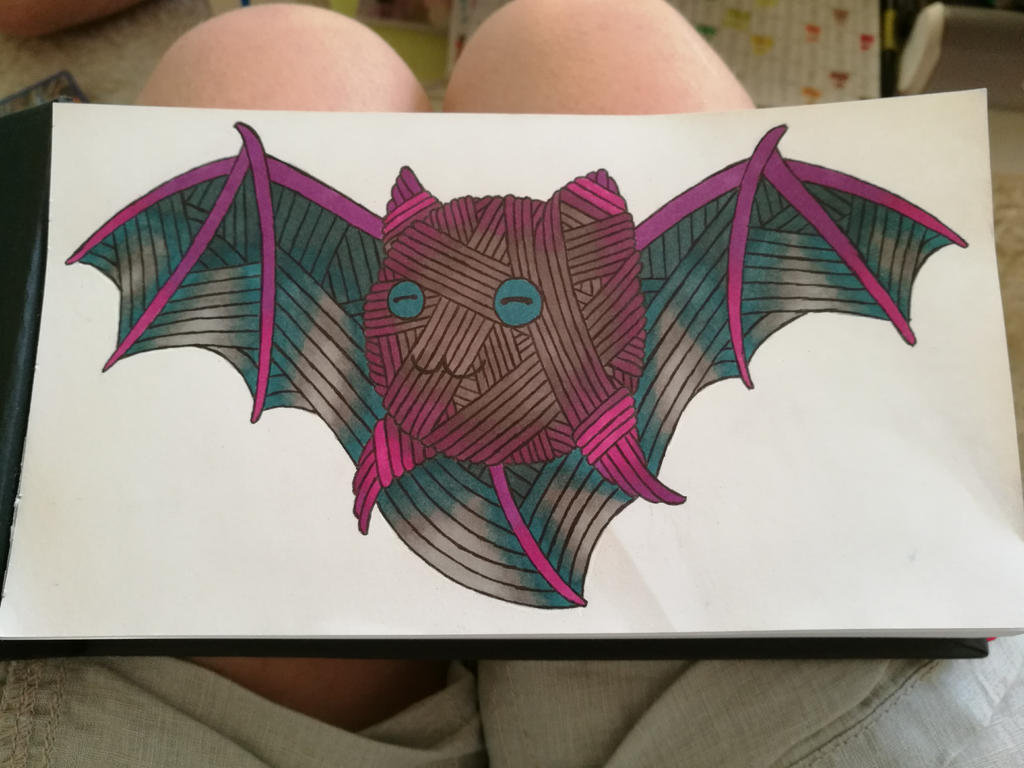 Bat thing yarnimal by MosquitoDrawsNStuff