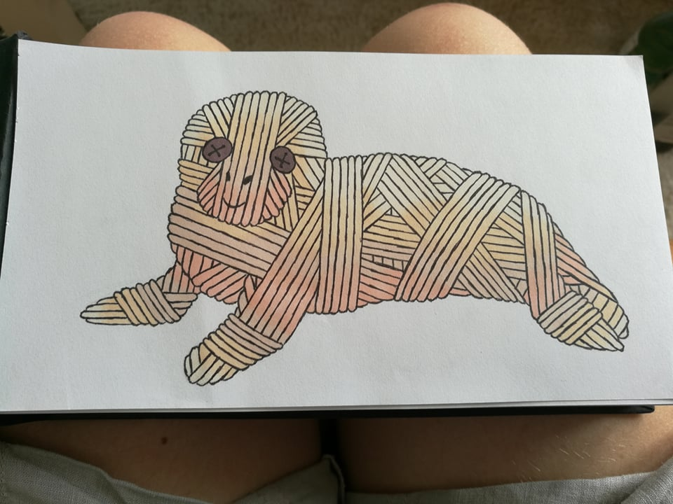 Seal yarnimal by MosquitoDrawsNStuff