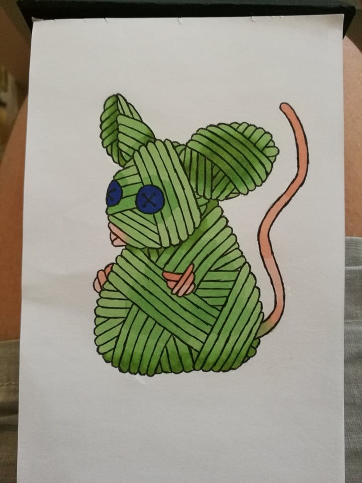 Mouse yarnimal by MosquitoDrawsNStuff