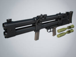 DP-64 Nepryadva Grenade Launcher (hi-poly) by Kutejnikov