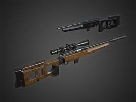 SV-99 Sniper Rifle #2 by Kutejnikov