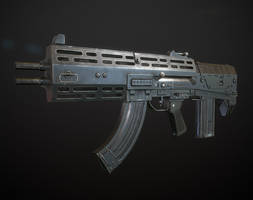 Double-Barreled Assault Rifle by Kutejnikov