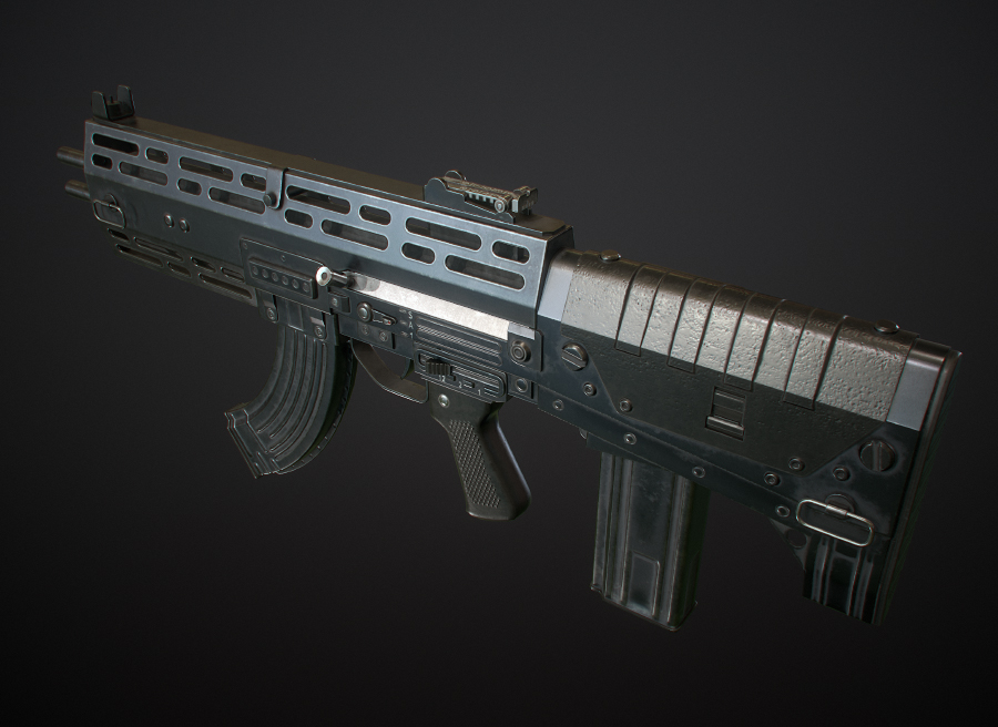 Double-Barreled Assault Rifle #2 by Kutejnikov