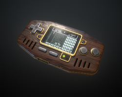 Handheld Game Console (wood) by Kutejnikov