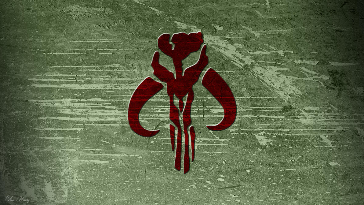 Mandalorian Symbol On Metal By Chris Alvarez