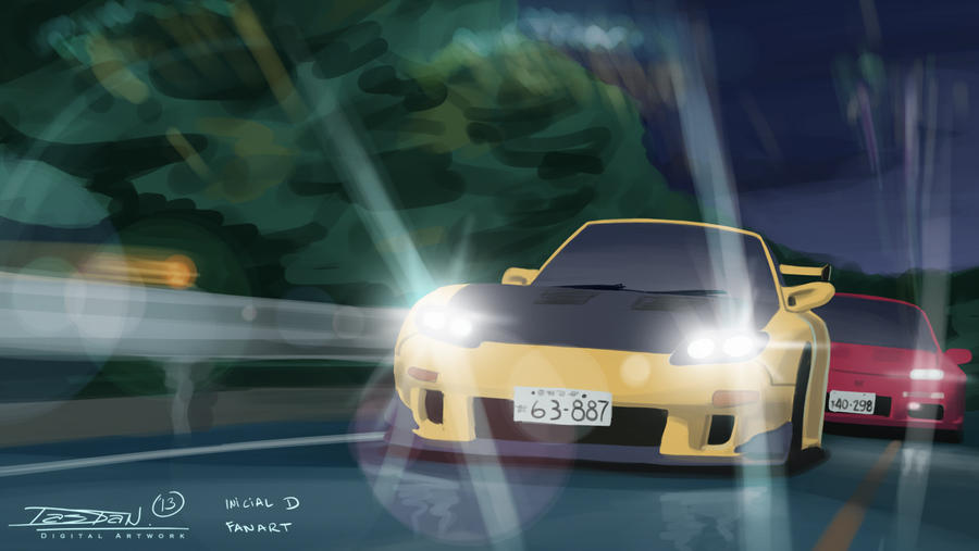 Initial D FanART By Pipeextile92