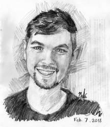 Sean McLoughlin portrait by Malu-CLBS
