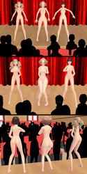 Ann, Makoto and Haru nude in public Persona 5 ENF by VoDKa-MMD
