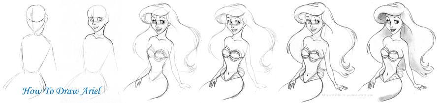 how to draw a princess ariel