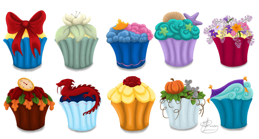 The Princess Cupcake Collection by Tella in SA on DeviantArt