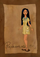 DisneyBound: Pocahontas by Tella-in-SA